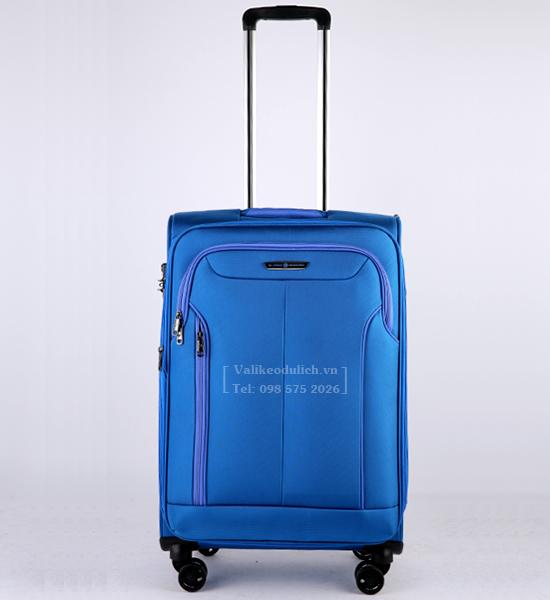 Vali Glossy Diamond GL1801 24 inch mau xanh 2
